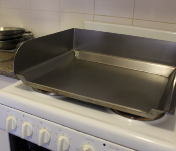 Coming Soon! Indoor BBQ / Oven hotplate / Baking tray with splash back